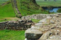 Fuerte romano en la pared de Hadrians imagenes de archivo