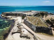 Fuerte San Sebastian Sao Sebastiao, isla Ilha de Mocambique, bahía de Mossuril de la costa del Océano Índico, provincia de Mozamb imagen de archivo libre de regalías