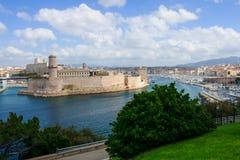 Fuerte St-Jean y el puerto de Vieux Imagen de archivo libre de regalías