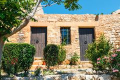 Fuerte veneciano histórico de Kazarma Sitia, Crete foto de archivo libre de regalías