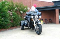 Fuerte viejo Harley Davidson Retail Store Trike en la exhibición Fotografía de archivo libre de regalías