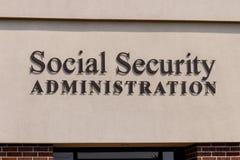 Fuerte Wayne - circa agosto de 2018: Rama local de la administración de Seguridad Social El SSA administra el retiro II imagen de archivo libre de regalías