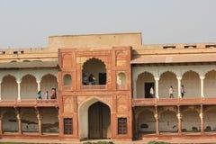 Fuerte y gente de Agra fotos de archivo