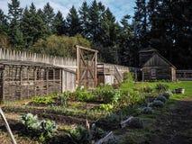Fuerte y jardín Fotos de archivo