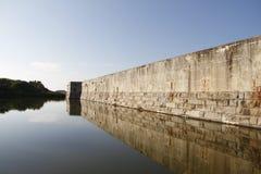 Fuerte Zachary Taylor Moat en el parque de estado histórico nacional, Key West, la Florida, los E.E.U.U. Imagenes de archivo