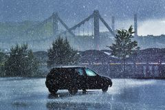 Fuertes lluvias en junio Ciudad de Moscú