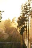 Fuertes lluvias en Sunny Day Contraluz Fotografía de archivo libre de regalías