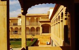 Fuertes reales la India de la arquitectura y del lujo de Rajasthani Fotos de archivo libres de regalías