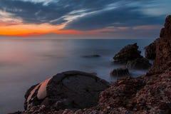Fuertes septentrionales después de la puesta del sol Foto de archivo libre de regalías
