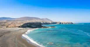 Fuerteventura, παραλία Ajuy στο Κανάριο νησί, Ισπανία στοκ εικόνα