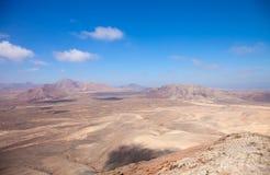 Fuerteventura, δύση άποψης από τη Μοντάνα Roja Στοκ φωτογραφία με δικαίωμα ελεύθερης χρήσης