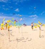 FUERTEVENTURA - 13 DE NOVIEMBRE DE 2011: FESTIVAL DE LA COMETA Imagen de archivo libre de regalías