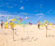 FUERTEVENTURA - 13 DE NOVIEMBRE DE 2011: FESTIVAL DE LA COMETA Fotos de archivo