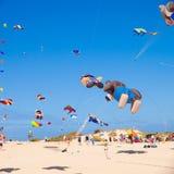 FUERTEVENTURA - 13 NOVEMBER: Het festival van de vlieger Stock Afbeeldingen