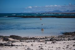Fuerteventura, acque basse immagine stock