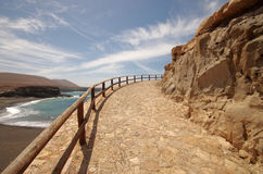 Fuerteventura, Ajuy walkway to the caves Royalty Free Stock Images