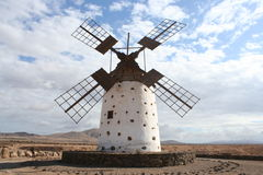 Fuerteventura ancient Windmill Royalty Free Stock Photos
