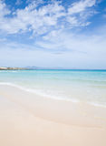 Fuerteventura, beautiful sandy beach Royalty Free Stock Image