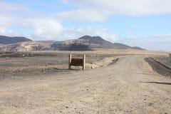 Fuerteventura Bergen` s mening Stock Foto's
