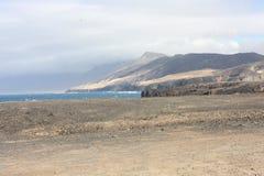 Fuerteventura Bergenmening Royalty-vrije Stock Foto