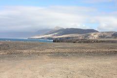 Fuerteventura Bergenmening Stock Afbeeldingen