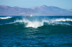 Fuerteventura, breaking waves Stock Images