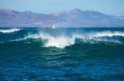 Fuerteventura, breaking waves Stock Images