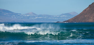 Fuerteventura, breaking waves Royalty Free Stock Images