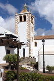 Fuerteventura - Canarian old church Santa Maria of Betancuria old town. Canary Islands. Betancuria is the oldest historic town of the island . Spain royalty free stock photo