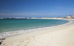 Fuerteventura, Canarische Eilanden, Playa-het strand van La Concha bij Gr Cotil stock foto's