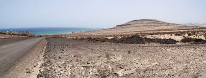 Fuerteventura, Canary Islands, Spain, dirt road, 4x4, desert, landscape, nature, climate change, panoramic, beach, Sotavento. Dirt road to Playa de Sotavento on Stock Photos