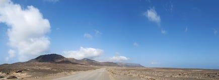 Fuerteventura, Canary islands, Spain, Punta Jandia, mountain, dirt road, southernmost, nature, landscape, desert, climate change. Fuerteventura: the mountains Stock Image