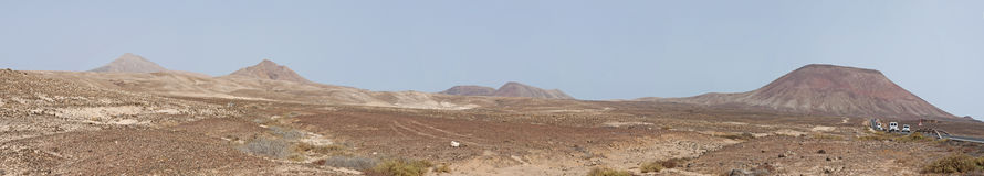 Fuerteventura, Canary islands, Spain. View of Canary landscape with mountains and desertic land on September 2, 2016. Fuerteventura is known worldwide for its royalty free stock photography