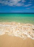Fuerteventura, clean beach of Jandia Royalty Free Stock Photography