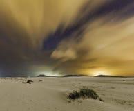 Fuerteventura Corralejo. Night Landscape of Fuerteventura, Spain Royalty Free Stock Images