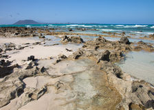 Fuerteventura, Corralejo Flag Beach Stock Photography