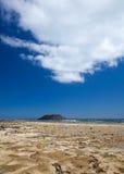 Fuerteventura, Corralejo Flag Beach Stock Image