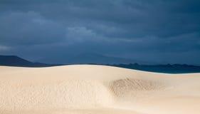 Fuerteventura, Corralejo sand dunes nature park Royalty Free Stock Photo