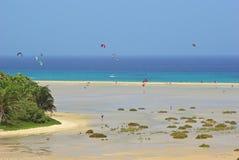 Fuerteventura, costela Barka Imagem de Stock