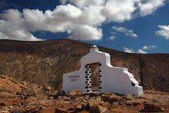 Fuerteventura, dessertlandschap in de bergen Royalty-vrije Stock Foto's
