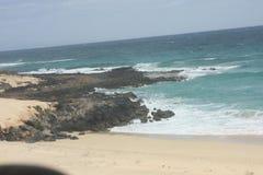 Fuerteventura Dirigendosi a Corralejo Immagini Stock Libere da Diritti