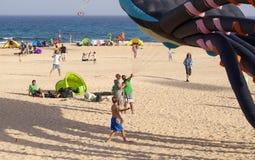 Fuerteventura-Drachen-Festival Lizenzfreies Stockbild