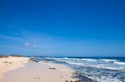 Fuerteventura, edge of Burro beach Royalty Free Stock Photos