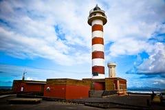 Fuerteventura El Cotillo Lighthouse 2. A lighthouse at the western coast of Fuerteventura nearby El Cotillo Stock Photo