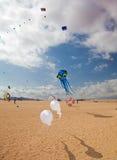 FUERTEVENTURA, ESPAÑA, el 8 de noviembre de 2014, festival de la cometa Foto de archivo libre de regalías
