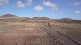 Fuerteventura España: 2018-10-27, XX competitio 2018 de la bici de montaña de Fudenas de la edición almacen de video