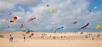 FUERTEVENTURA, ESPAGNE, le 8 novembre 2014, festival de cerf-volant Photographie stock libre de droits