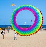FUERTEVENTURA, ESPAGNE, le 8 novembre 2014, festival de cerf-volant Images libres de droits