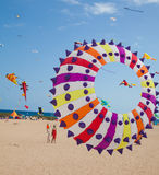 FUERTEVENTURA, ESPAGNE, le 8 novembre 2014, festival de cerf-volant Photo stock