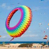 FUERTEVENTURA, ESPANHA, o 8 de novembro de 2014, festival do papagaio Foto de Stock Royalty Free